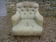 Howard and Sons button back antique armchair - Bridgewater model1.jpg