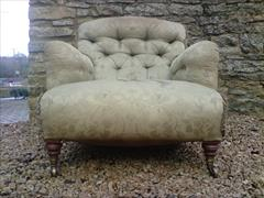 Howard and Sons button back antique armchair - Bridgewater model2.jpg