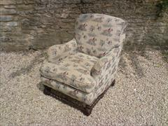antique armchair made by Howard and Sons of London1.jpg