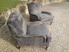 Howards and Sons pair of antique armchairs - Grafton model.jpg