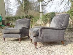 Howards and Sons pair of antique armchairs - Grafton model1.jpg