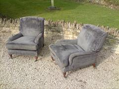 Howards and Sons pair of antique armchairs - Grafton model2.jpg
