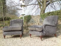 Howards and Sons pair of antique armchairs - Grafton model3.jpg