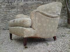 Howards and Sons pair of antique armchairs - Bridgewater model1.jpg