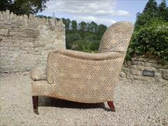 Howards and Sons pair of antique armchairs - Bridgewater model2.jpg