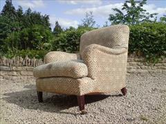 Howards and Sons pair of antique armchairs - Bridgewater model6.jpg