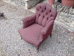 Howard and Sons button back antique armchair1.jpg