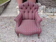 Howard and Sons button back antique armchair2.jpg