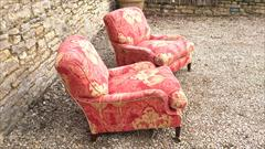 Howard and Son Grafton model antique armchairs4.jpg