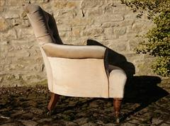 Howard and Sons button back antique antique armchair2.jpg
