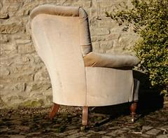 Howard and Sons button back antique antique armchair3.jpg