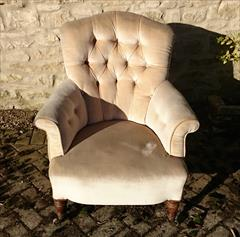 Howard and Sons button back antique antique armchair4.jpg