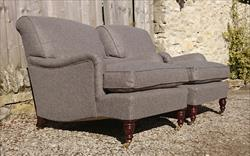 Howard and Sons pair of antique armchairs - Harley model.jpg