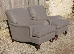 Howard and Sons pair of antique armchairs - Harley model1.jpg