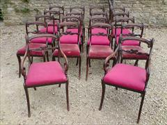 Regency long set of 18 antique dining chairs made of simulated Rosewood.jpg
