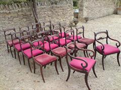 Regency long set of 18 antique dining chairs made of simulated Rosewood2.jpg