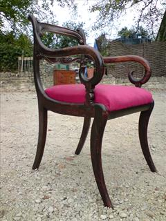 Regency long set of 18 antique dining chairs made of simulated Rosewood4.jpg