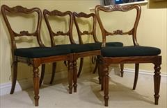 4 Gillow Dining Chairs 18w 18h seat 19d 34h 8.JPG