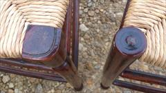 Set of 6 Antique Rush Seated Spindle Back Yew-wood Antique Dining Chairs5.jpg
