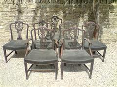 set of 7 totally original antique mahogany George III period dining chairs1.jpg
