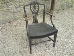 set of 7 totally original antique mahogany George III period dining chairs3.jpg