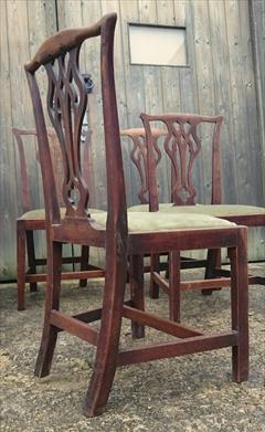 Set of six elm antique dining chairs.jpg
