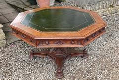 Antique Centre Table Oak Gothic 51 wide 29 high _12.JPG