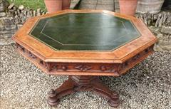 Antique Centre Table Oak Gothic 51 wide 29 high _2.JPG