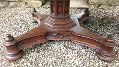 Antique Centre Table Oak Gothic 51 wide 29 high _9.JPG