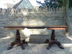 2 Pedestal Antique DIning Table 23½ each section 48d 70½w _4.JPG