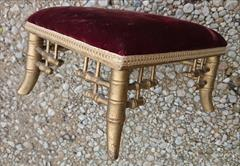 Antique Stool Faux Bamboo Gold 11½w 10d 6h _8.JPG