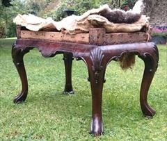 Antique Walnut Stool 19h 26w 15d 6.JPG