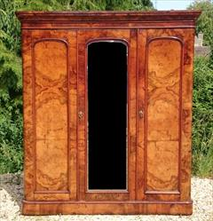 Antique Wanut Maple Wardrobe Linen Press 81h 73w 19d all at cornice _12.png