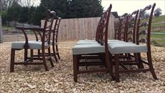 Set of 10 Chippendale ladder back mahogany antique dining chairs3.jpg