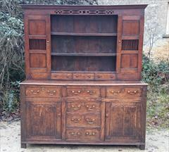 Antique Early Oak Dresser 74w 21d 82.5h _2.JPG