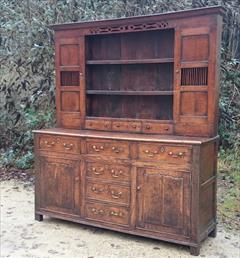 Antique Early Oak Dresser 74w 21d 82.5h _5.JPG