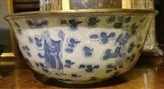 Antique Punch Bowl Chinese Export 14w 6h _2.JPG