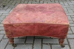 Antique Howard Footstool Leather 25 x 23 x 12h _10.JPG