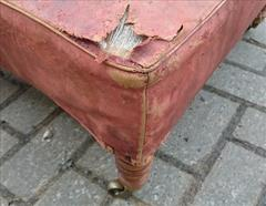 Antique Howard Footstool Leather 25 x 23 x 12h _12.JPG