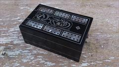 Ebony antique cribbage board.jpg